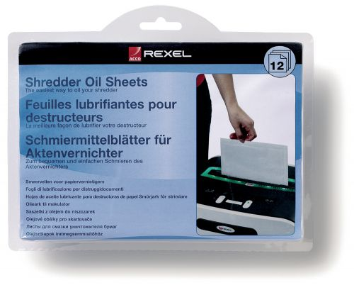 Rexel Shedder Oil Sheets (Pack 12)