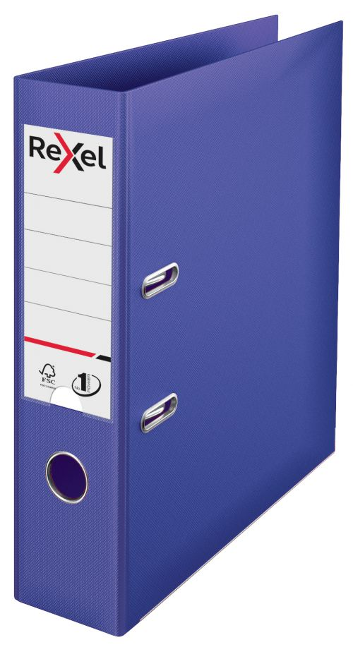 Rexel A4 Lever Arch File; Violet; 75mm Spine Width; No.1 Power - Outer carton of 10