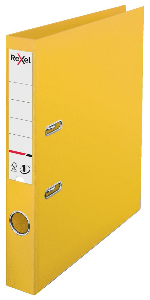 Rexel A4 Lever Arch File; Yellow; 50mm Spine Width; No.1 Power - Outer carton of 10