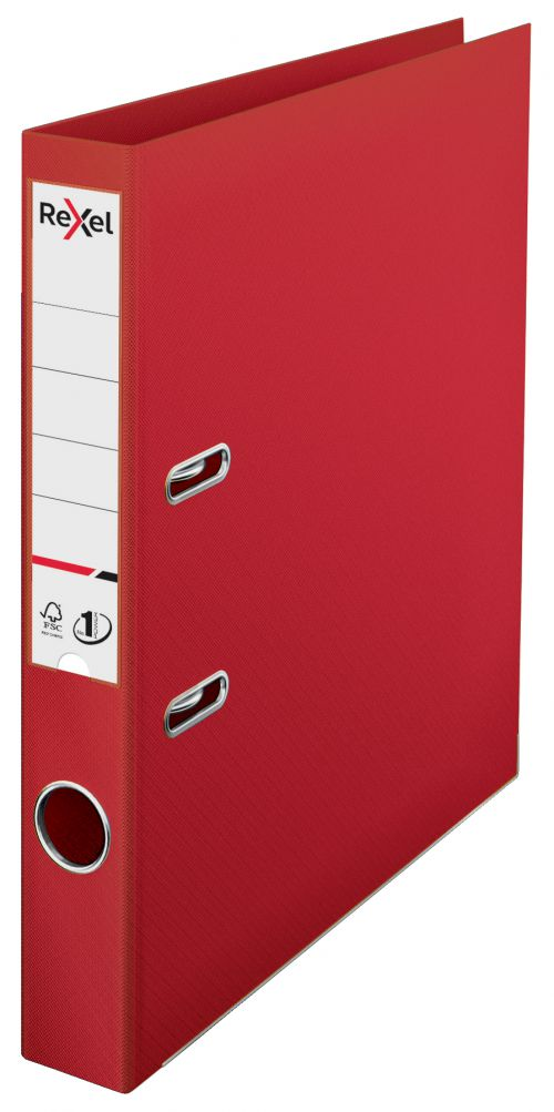 Rexel A4 Lever Arch File; Red; 50mm Spine Width; No.1 Power - Outer carton of 10