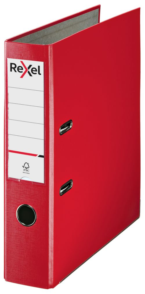Rexel A4 Lever Arch File; Red; 75mm Spine Width; Economic Range - Outer carton of 20