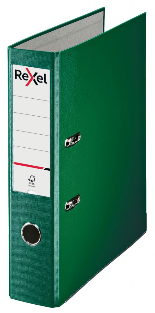 Rexel Lever Arch File Polypropylene ECO A4 75mm Green 2115718