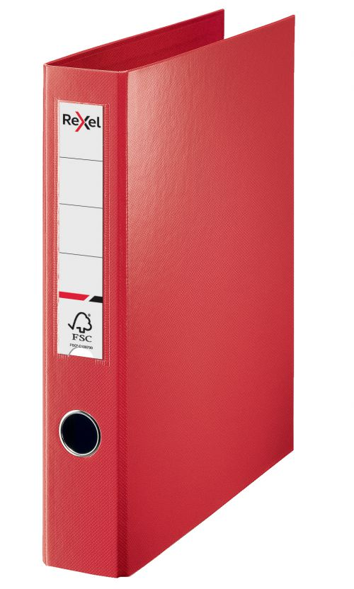 Rexel A4 Ring Binder; Red; 40mm 4D-Ring Diameter; Choices - Outer carton of 12