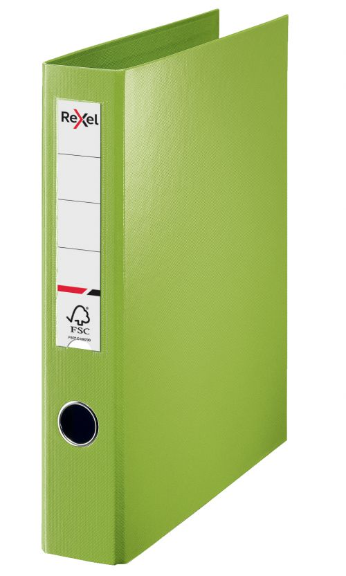 Rexel A4 Ring Binder; Green; 40mm 4D-Ring Diameter; Choices - Outer carton of 12