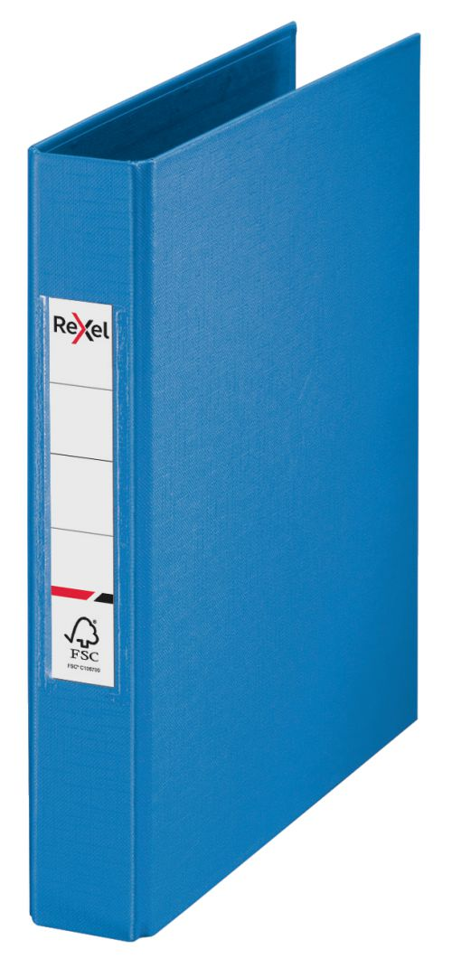 Rexel A5 Ring Binder; Blue; 25mm 2 O-Ring Diameter; Choices - Outer carton of 10
