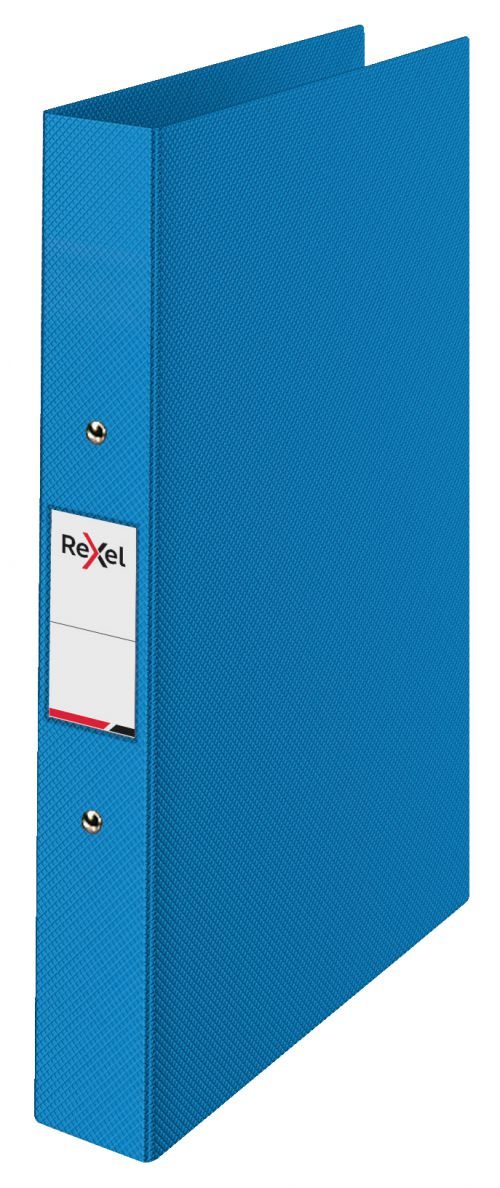Rexel A4 Ring Binder; Blue; 25mm 2 O-Ring Diameter; Choices - Outer carton of 10