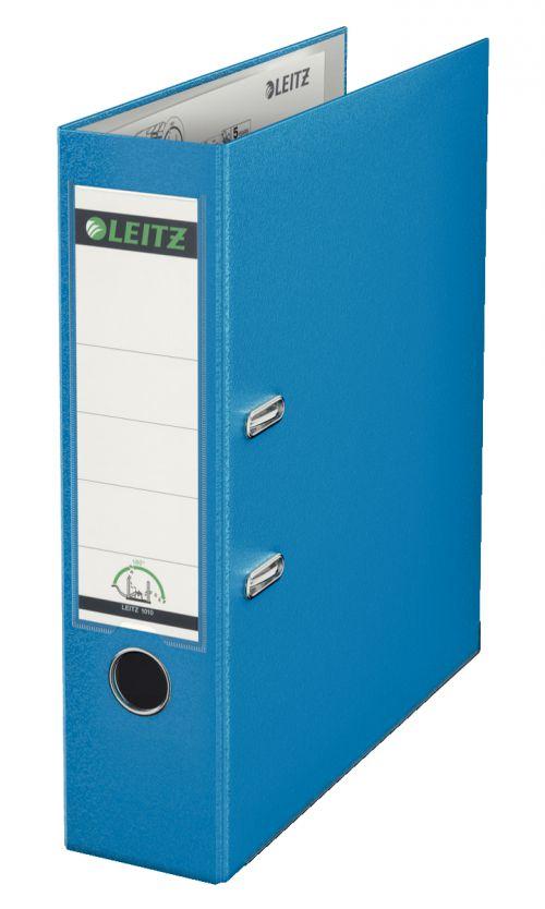 Leitz 180° Lever Arch File Polypropylene A4 80mm Light Blue - Outer carton of 10