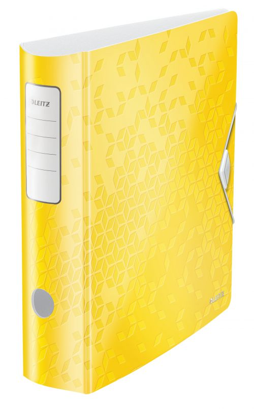 Leitz Active WOW 180deg Lever Arch File A4 80mm Yellow 11060016