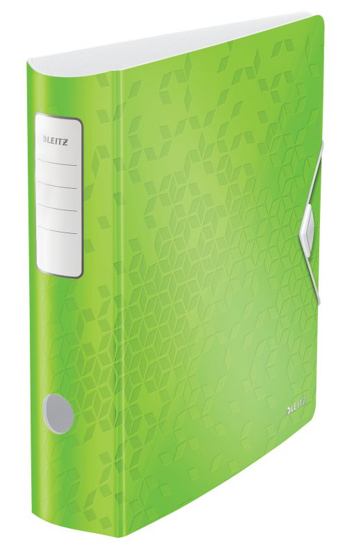 Leitz Active WOW 180deg Lever Arch File A4 80mm Green 11060054