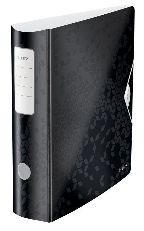 Leitz Active WOW 180deg Lever Arch File A4 80mm Black 11060095