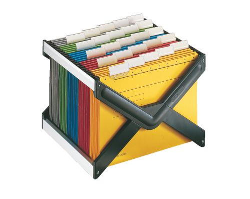 Leitz X-Frame Suspension File Unit, 25 A4 hanging folders, foldable, black