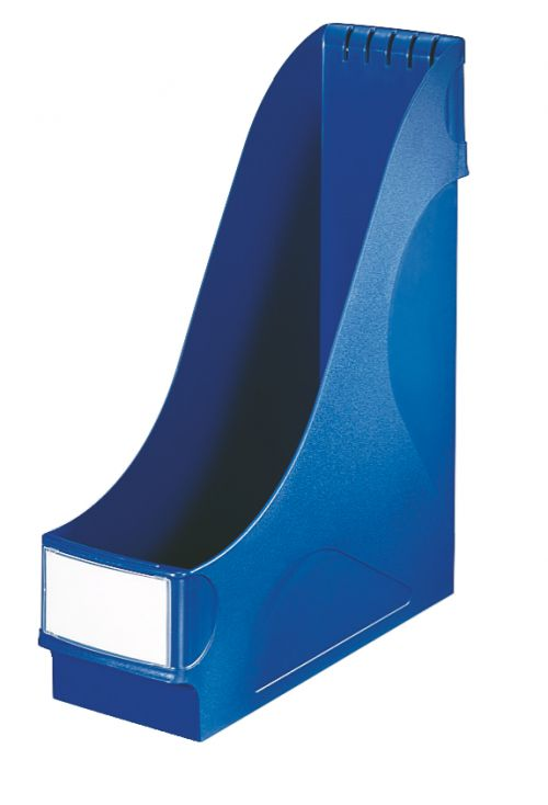 Leitz Magazine File, extra wide High capacity (92 mm). Includes label holder. A4. Blue. - Outer carton of 8