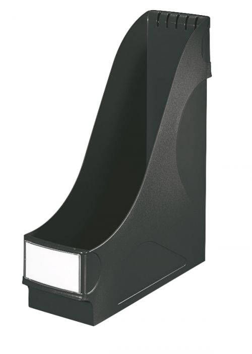 Leitz Magazine File, extra wide High capacity (92 mm). Includes label holder. A4. Black. - Outer carton of 8