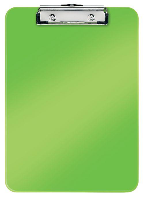 Leitz WOW Clipboard. 75 sheet capacity. A4. Green - Outer carton of 10
