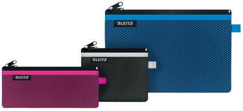 Leitz WOW 2-pocket Travel Pouch set Assorted (Pack of 3)