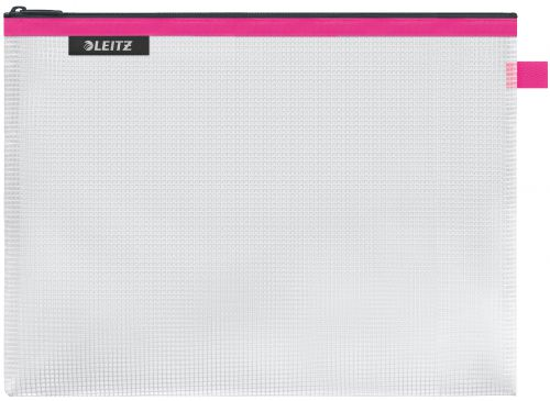 Leitz WOW water resistant Travel Pouch Large Size: 30x23 cm. Pink - Outer carton of 10