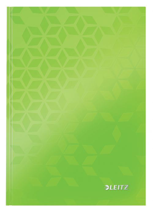 Leitz WOW Notebook A5 ruled with hardcover 80 sheets. Green. - Outer carton of 6