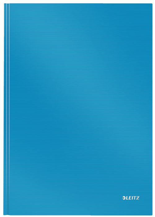 Leitz Solid Notebook A4 ruled with hardcover 80 sheets of high opacity paper. Casebound. Light Blue - Outer carton of 6