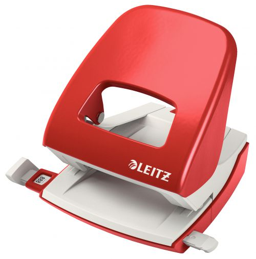 Leitz NeXXt Metal Office Hole Punch 30 sheets. Red