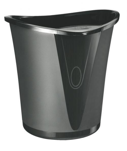 Leitz Allura Waste Bin 18 litre capacity. Black