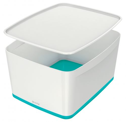 Leitz MyBox Large with Lid WOW White Ice Blue