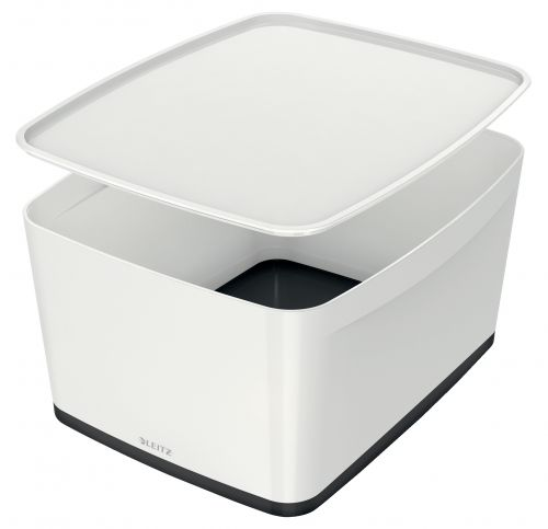 Leitz MyBox Large with Lid WOW White Black
