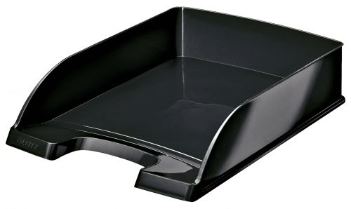 Leitz WOW Letter Tray Plus. A4. Black - Outer carton of 5