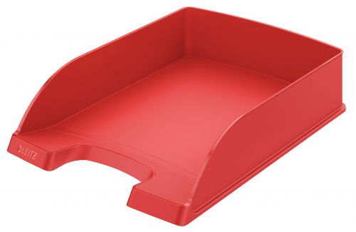 Leitz Plus Letter Tray, Standard A4. Red - Outer carton of 5
