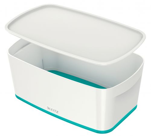 Leitz MyBox Small with Lid WOW White Ice Blue