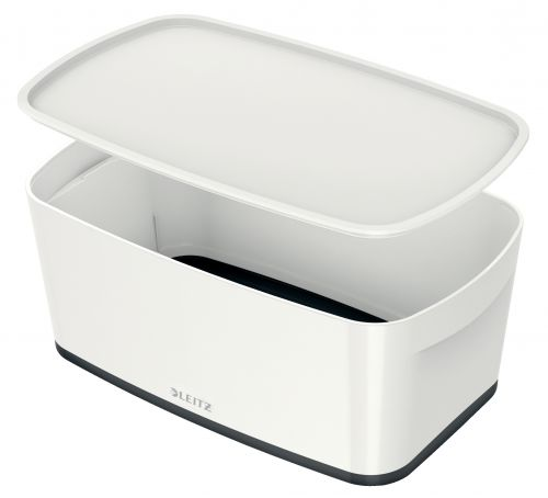 Leitz MyBox Small with Lid WOW White Black
