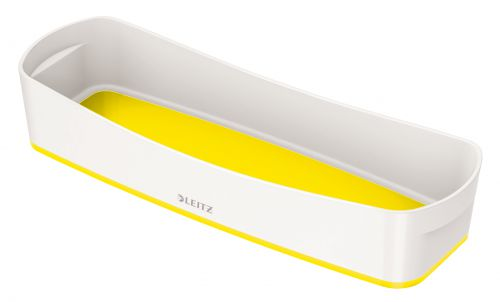 Leitz MyBox Tray Organiser WOW White Yellow