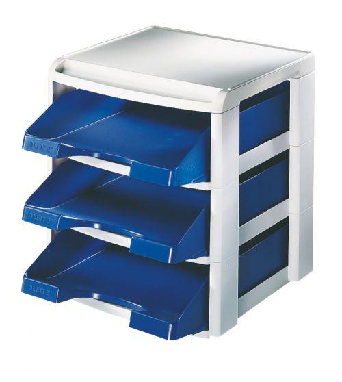 Leitz Plus Letter Tray Rack Blue