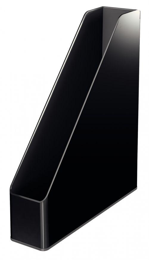 Leitz Magazine File Dual Colour Extra slim design. A4. Black - Outer carton of 4