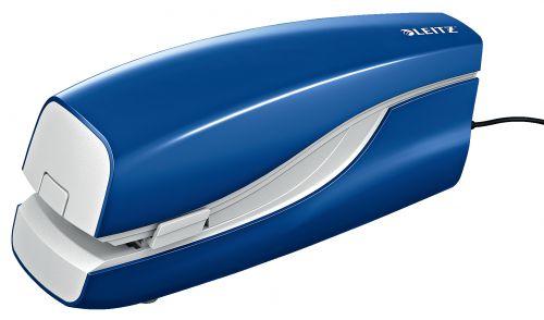 Leitz NeXXt Electric Flat Clinch Stapler 20 sheets. Includes staples. Blue