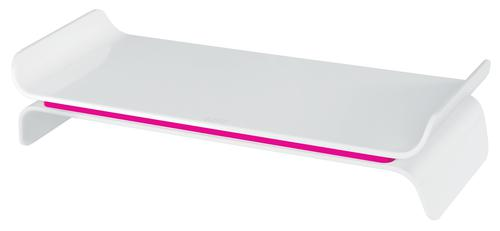 Leitz Ergo WOW Adjustable Monitor Stand Pink