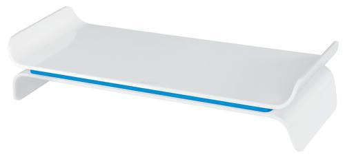 Leitz Ergo WOW Adjustable Monitor Stand Blue