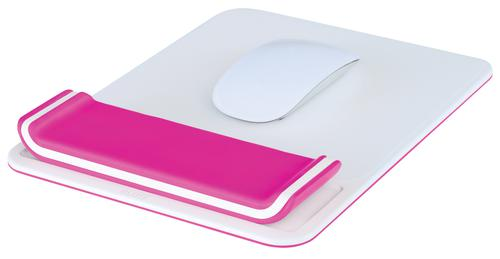 Leitz Ergo WOW Mouse Pad with Adjustable Wrist Rest Pink