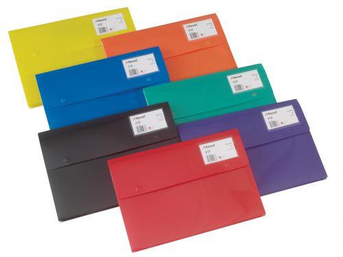 Rexel Wallet Superline Random Colour A4 - Outer carton of 15