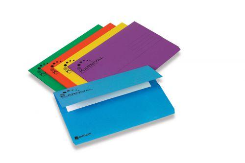 Rexel Karnival Box File with Metal Lockspring Blue Foolscap (Pack of 5)
