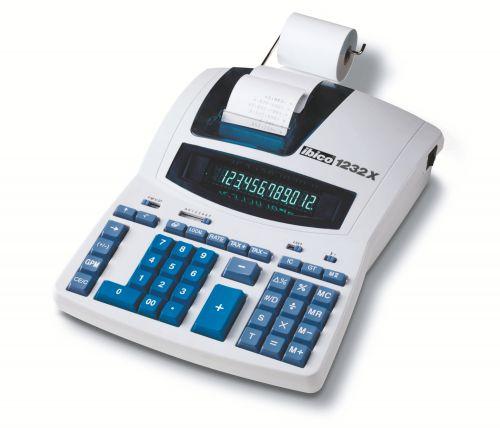 Ibico 1232X Professional Print Calculator White/Blue