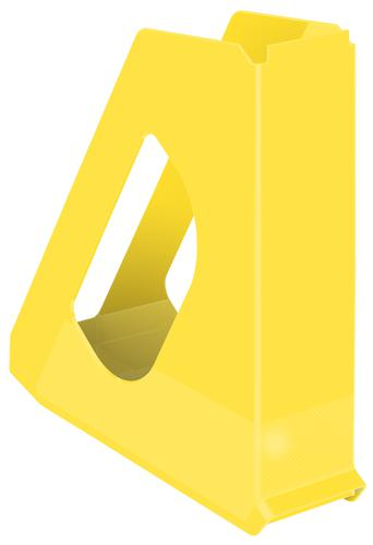 Esselte VIVIDA Europost Magazine File, A4, Yellow - Outer carton of 10