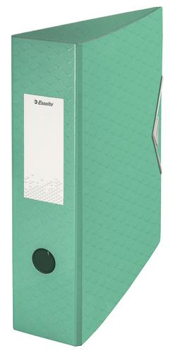 Esselte Colour'Ice Lever Arch File Polyfoam A4, 75mm, Green - Outer carton of 5