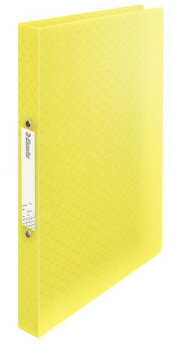 Esselte Colour'Ice 2-Ring Binder A4, Softcover, Polypropylene, 25mm 2R Ring,  Yellow - Outer carton of 12