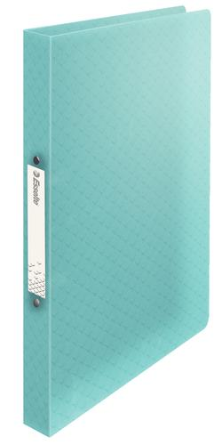 Esselte Colour'Ice 2-Ring Binder A4, Softcover, Polypropylene, 25mm 2R Ring,  Blue - Outer carton of 12
