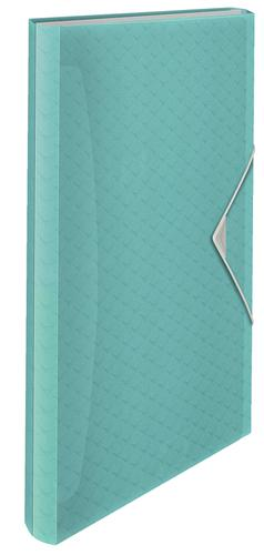 Esselte Colour'Ice  Expanding Concertina File, Polypropylene, Translucent, 6 tabbed compartments for A4 paper,  Blue - Outer carton of 6