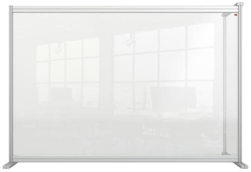 Nobo Acrylic Modular DeskDivider Extension 1400x1000mm Clear KF90377 KF90377