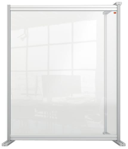 Nobo Acrylic Modular Desk Divider Extension 800x1000mm Clear KF90379 KF90379
