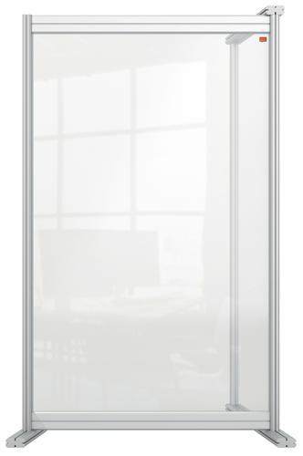 Nobo Acrylic Modular Desk Divider Extension 600x1000mm Clear KF90380 KF90380