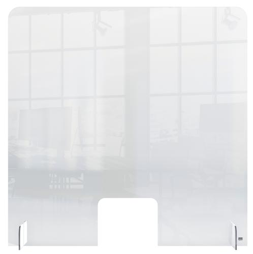 Free Standing Acrylic Screen 700 x 850 x 4mm Clear with Cut Out