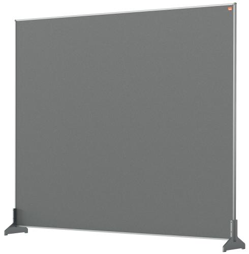 Nobo Impression Pro Desk Divider 1200x1000mm Grey